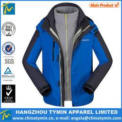 hot sale new design 3 in 1 warm jacket men outdoor waterproof jacket