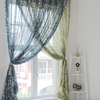 Latest design printed sheer voile curtain fabric