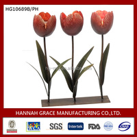 Wholesale Souvenir Metal Three tulips Candle Holder Crafts