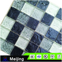 New designs travertine and glass mosaic for 3d flooring tiles