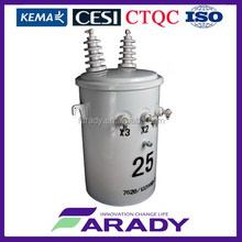 7970V 25kVA overhead pole mounted oil immersed electrical transformer conventional type