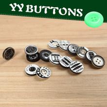various laser patterns circular fasterner cuff button for men shirts or women shirts