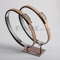 Fashionable Twin belts display rack,Steel belt racks, shopfit steel display belt racks for chain-stores distributors
