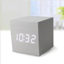 superior serviceable table clock home decor alarm clock wooden clock high quality various with different wood color