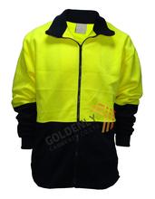 100% polyester OEM full zipper/ half zipper flourescent polar fleece