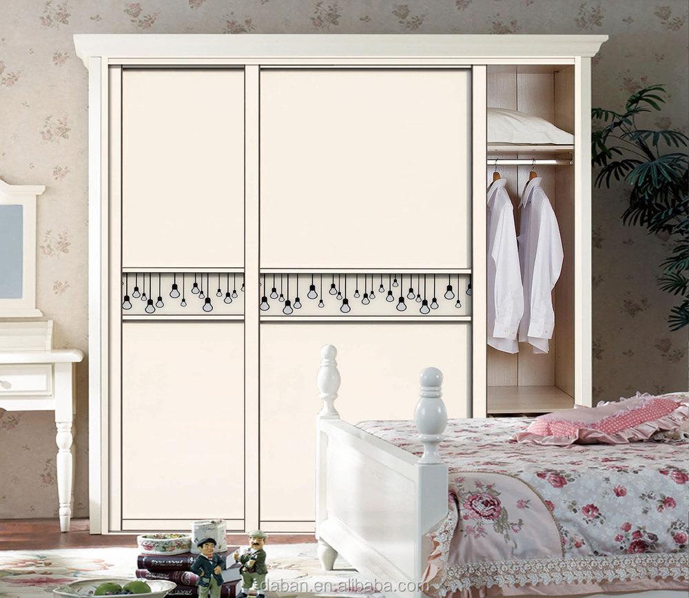 Jisheng Brand Uv Coating High Glossy White Bedroom
