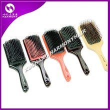 Wholesale Natural Wooden bristle hair brush/plastic boar bristle brush/soft bristle hair brush