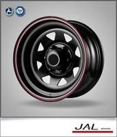 4x4 cars and trailers eight spoke steels wheels rims