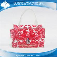 New custom waterproof clear pvc handle bag for gift packaging
