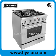 4 burner commercial gas cooking range with oven