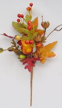 """20"""" Berry Spray with maple leaves"""