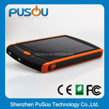 Pusou Newest solar panel power bank smart phone 5600mah for all mobilephones and tablet