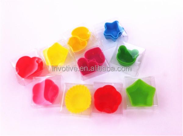 Bulk cheap colorful silicone cake mould coo<em></em>kie cup
