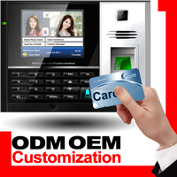 OEM ODM Biometric and Punch Card Attendance Machine with 3.5'' LCD