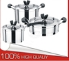 kitchenware and cookware supplier 6 Pcs Non-stick Cookware Sets&New Stainless Steel Kitchenware