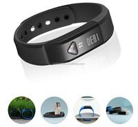 3D Senser bluetooth sleep monitor wristband i5 smart bracelet electronic identification wristband /bracelet