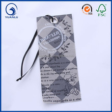 Natrual Cotton Canvas Fabric Clothing Hang Tags With Eyelet