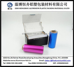 Beauty salon use colored aluminium foil for hairdressing