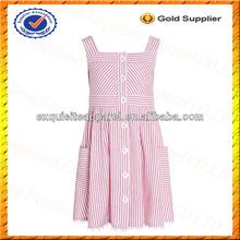 Los niños personalizados 100% casual vestido de algodón/niños vestido sin mangas de venta al por mayor