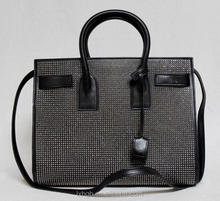 Small Carryall Black Stud Leather Bag studded studs spikes Designer Handbags Shop ladies fashion Bags