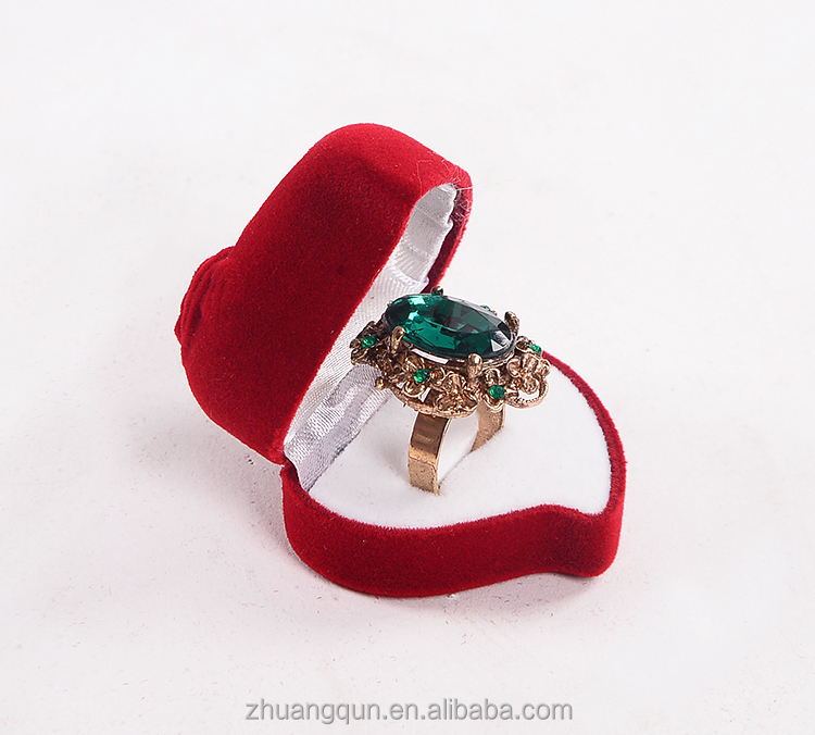 꽃 모양 링 상자, 심장 모양 장미 선물 랩 상자 링
