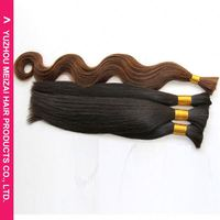 New coming simple design brazilian virgin bulk human hair from China workshop