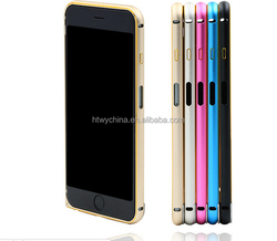 Good quality Luxury bumper metal aluminum hard case for IPhone 6 Golden metal case
