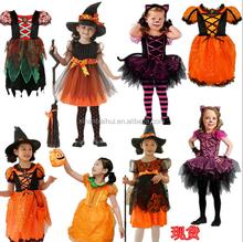 Superventas del precio bajo de los niños cosplay bruja disfraz de halloween