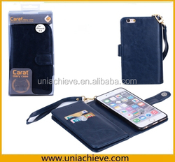Case For iphone 6S/iphone 6S plus, PU leather flip case with wallet card