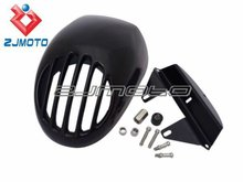 """ZJMOTO Motorcycle SPORTSTER 5 3/4"""" cut out Headlight Fairing FIT TO HARLEY CUSTOM"""