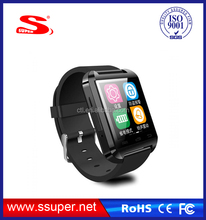 2015 wholesale new arrival fashion built in 2.0MP camera android wifi phone U8 smart watches phone