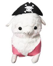 Soft Stuffed Doll Lovely Pirate Alpaca/High Quality Stuffed Toy Alpaca/Plush Animal Toy