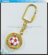 2015 Wholesale custom promotional gifts tourist brazil souvenirs football metal keychain