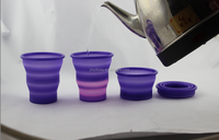 colour change with high temperature silicone cup