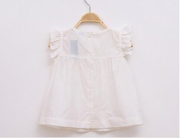 Hot 2014 new Spring&Summer girls foreign trade cotton shirt, French designer boutique shirt, Top quality kids girl's brand shirt