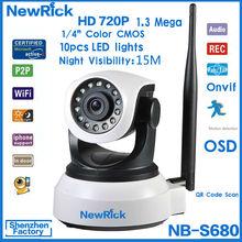 Newrick Full HD Onvif PT Pan / Tilt Wireless 720P onvif p2p ip camera