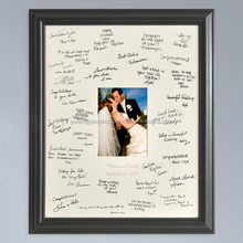 unique wedding signature photo frames with writting wishes words