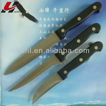 very good quality hot sell 3 pcs POM handle knife