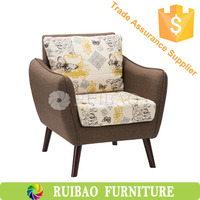 Wooden Legs Sofa Chairs With Arms,Indian Style Modern Sofa Chair