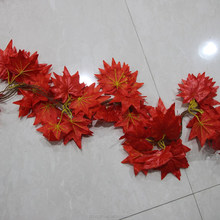 Artificial Red Maple Leaves Garland Wedding Home Decoration