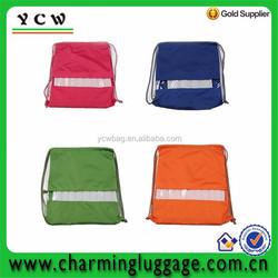 shoulder polyester waterproof drawstring bag for beach