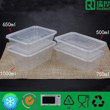 Clear plastic food storage container food grade plastic container take away food container 650ml