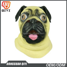 Latex Dog Mask Carnival Theme Party Dress Costumes Adult Cosplay Head Rubber Latex Masks
