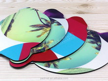 fish shape PP mouse pads 4-c print scenery