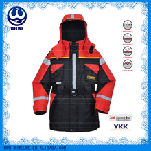 red and black Floating fishing jacket,waterproof,breathable