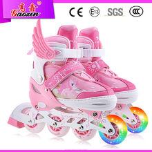 Gx-1508 Popular PVC ruedas adultos precio bajo intermitentes zapatillas de skate