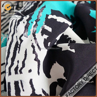 Factory direct custom digital print expensive silk fabric in high quality for garments