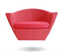NEST LOVE PE rattan / wicker lounge relaxing chair CE approval outdoor waterproof furniture