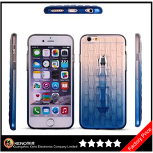 Keno Woven Pattern Color Changing For iPhone 6 TPU Case, Transparent Soft TPU for iPhone Case