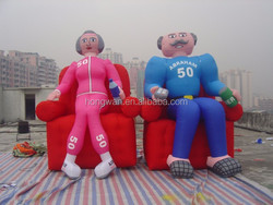 2015 popular advertising inflatable two old couple person inflatable nylon oxford cloth model